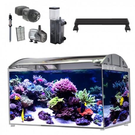 Aquarium Nano marin 80 litres complet avec pierres vivante et sel