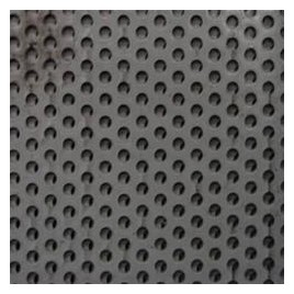 Crépine-plaque en PVC souple et perforée /M²