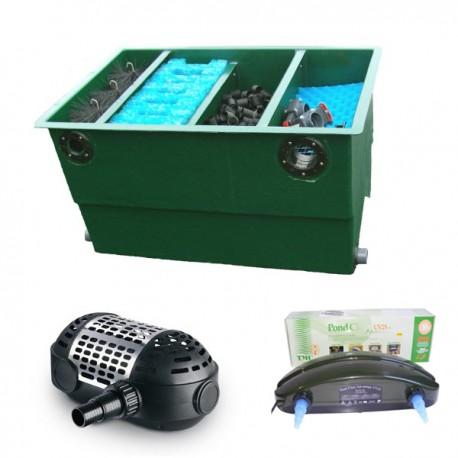 kit de filtration n 2 pour bassin de maximum 8000 litres. Black Bedroom Furniture Sets. Home Design Ideas