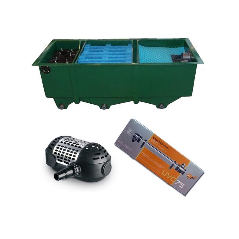kit de filtration n 8 pour bassin de maximum 25000 litres. Black Bedroom Furniture Sets. Home Design Ideas