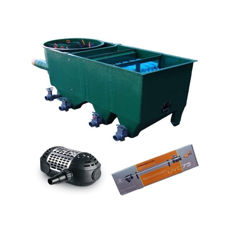 kit de filtration n 10 pour bassin de maximum 25000. Black Bedroom Furniture Sets. Home Design Ideas