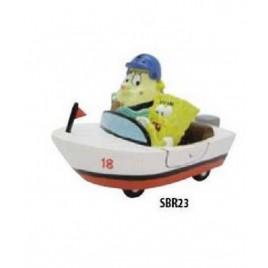 Decor Mrs Puff & Bob l'éponge dans bateau 10cm  SBR23