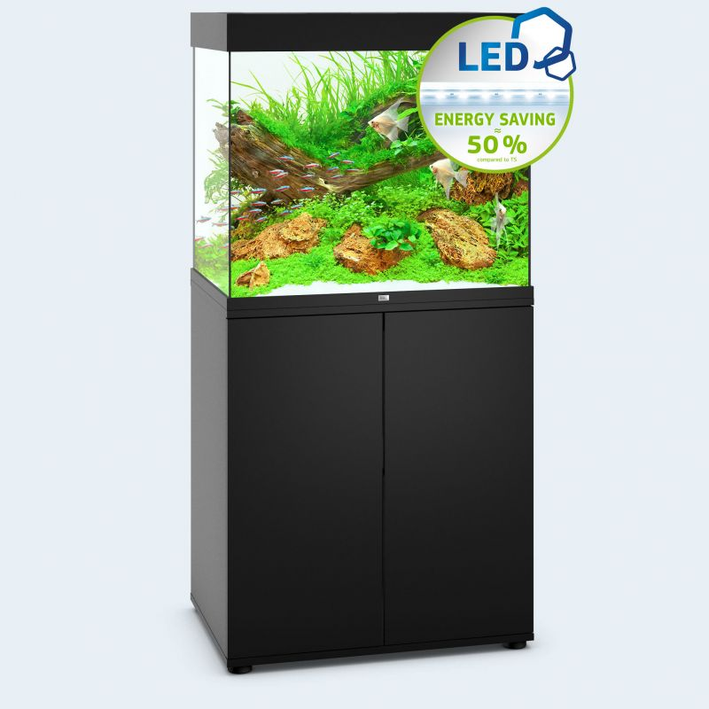 juwel aquarium lido 200 line led noir avec meuble. Black Bedroom Furniture Sets. Home Design Ideas