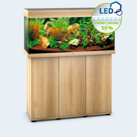 Juwel aquarium rio 180 line led light wood avec meuble for Aquarium avec meuble
