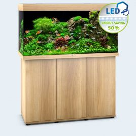 Juwel Aquarium Rio 350 Line LED light wood avec meuble avec portes