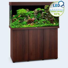 Juwel Aquarium Rio 350 Line LED bois brun avec meuble avec portes