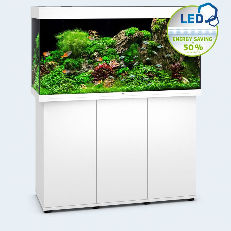 juwel aquarium rio 350 line led blanc avec meuble avec portes. Black Bedroom Furniture Sets. Home Design Ideas