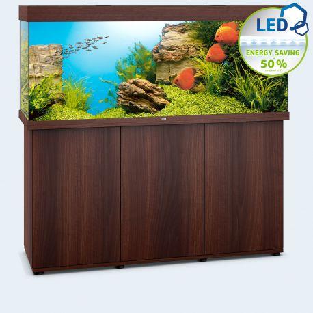 Juwel Aquarium Rio 450 Line LED bois brun avec meuble avec portes