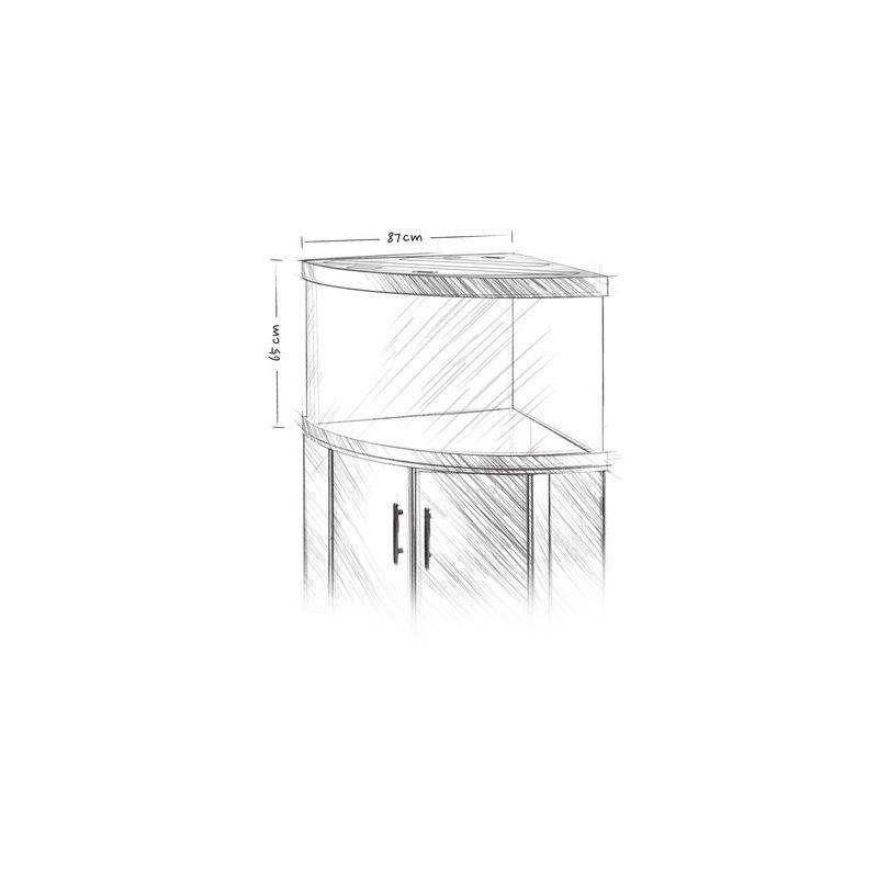 Juwel aquarium trigon 350 line blanc avec meuble avec for Aquarium avec meuble
