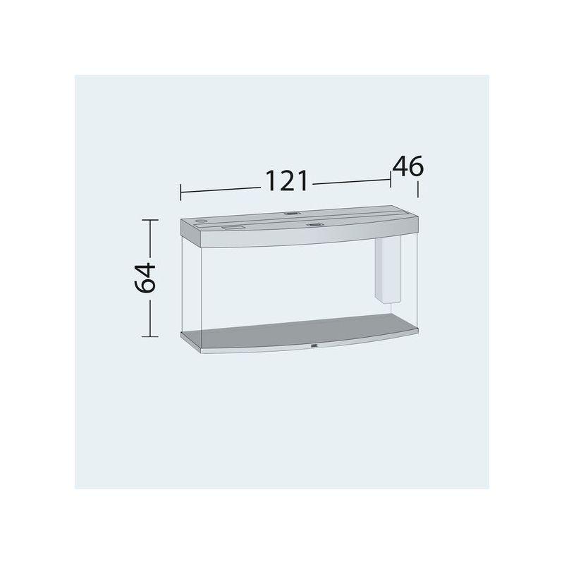 Juwel aquarium vision 260 line bois brun avec meuble avec for Meuble avec porte