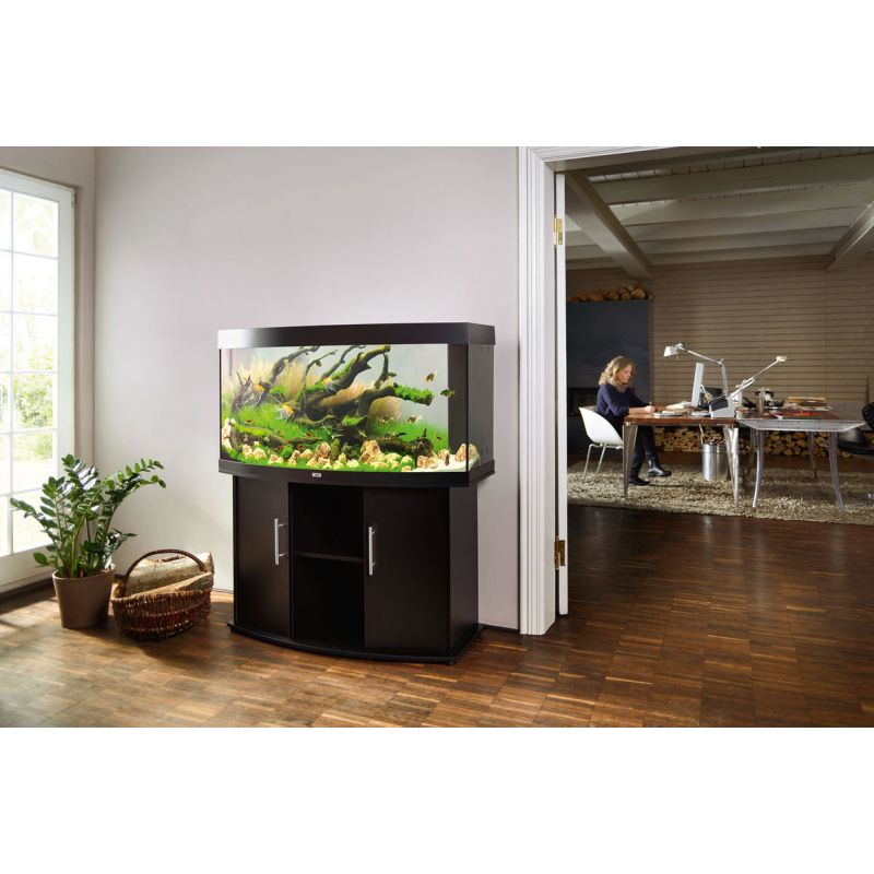 juwel aquarium vision 260 line led bois brun avec meuble avec portes. Black Bedroom Furniture Sets. Home Design Ideas
