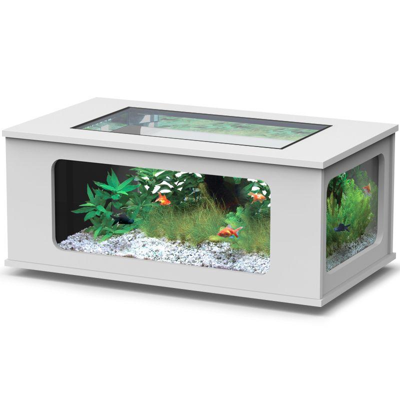 Aquatlantis aquatable 130x75cm - Aquarium table basse de salon ...