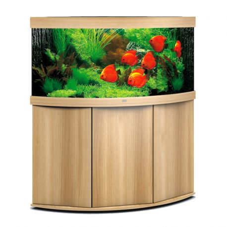 juwel aquarium trigon 350 line led ligh wood avec meuble avec portes. Black Bedroom Furniture Sets. Home Design Ideas