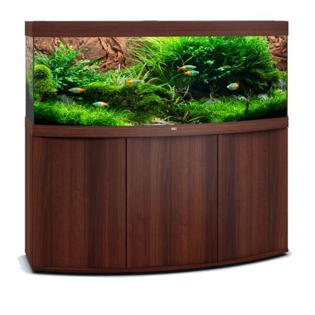 juwel aquarium vision 450 line led bois brun avec meuble avec portes. Black Bedroom Furniture Sets. Home Design Ideas