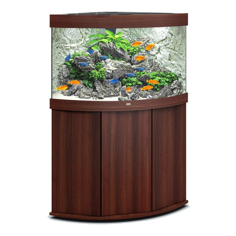 juwel aquarium trigon 190 line led bois brun avec meuble. Black Bedroom Furniture Sets. Home Design Ideas