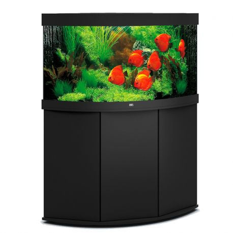 juwel aquarium trigon 350 line noir avec meuble avec portes. Black Bedroom Furniture Sets. Home Design Ideas