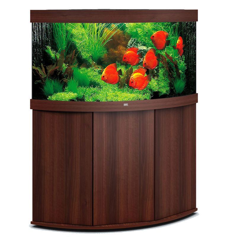 juwel aquarium trigon 350 line led bois brun avec meuble avec portes. Black Bedroom Furniture Sets. Home Design Ideas