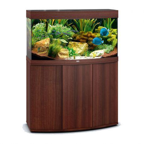 Juwel Aquarium Vision 180 Line LED bois brun avec meuble avec portes