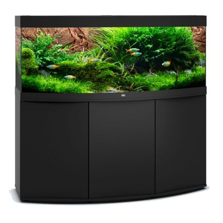 juwel aquarium vision 450 line led noir avec meuble avec portes. Black Bedroom Furniture Sets. Home Design Ideas