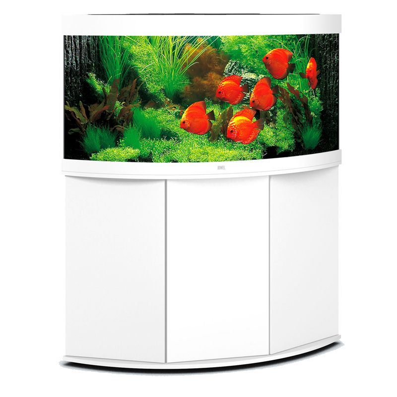 juwel aquarium trigon 350 line led blanc avec meuble avec portes. Black Bedroom Furniture Sets. Home Design Ideas