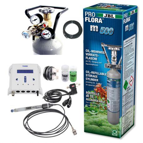 Kit co² pour réacteur à calcaire avec bouteille co² 500gr + pH/CO2 SmartController