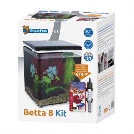 Aquarium Betta 8 Kit avec accessoires offert