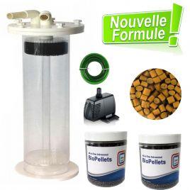 Kit dénitrateur/déphosphateur Blue marine MULTI REACTOR 2000 + 2 x Biopellet AIO Advanced 800gr  (pompe & tuyauterie comprise)