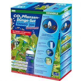 Dennerle set CO2 de fertilisation des plantes JETABLE 300 Quantum + électrovanne + minuteur