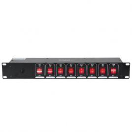 Dispatch 8 prises avec commutateurs lumineux