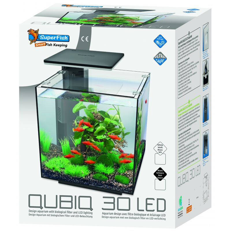 Aquarium Blanc Qubiq Superfish 30 Led tdQrChsx