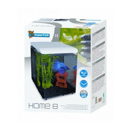 Superfish aquarium HOME 8 blanc