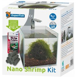 SuperFish Nano Shrimp Kit Aquarium - 14x14x15 cm - 1,8L