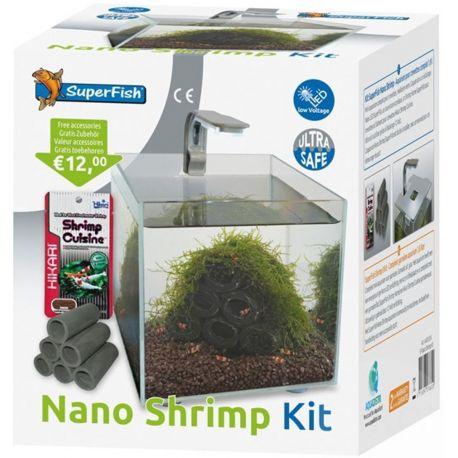 SuperFish Nano Shrimp Kit Aquarium - 14x14x15 cm - 1,8L