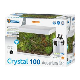 Superfish Crystal 100 Set Aquarium Blanc