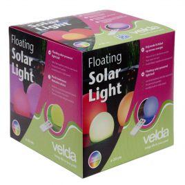 Velda Floating Solar Light 30cm boule lumineuse multi-colore à énergie solaire.