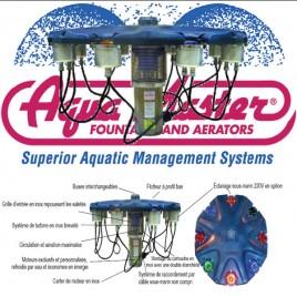 Aquamaster fontaine flottante (sans buse) - 2 CH 380 Volts