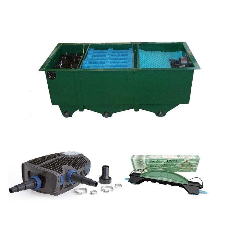 kit de filtration n 4 pour bassin de maximum 14000 litres. Black Bedroom Furniture Sets. Home Design Ideas