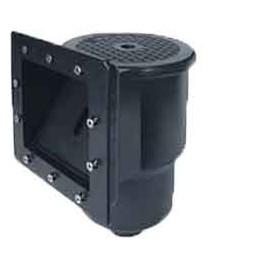 skimmer de paroie petit noir (pour bâche ou préfab.) aspiration: 151x143mm