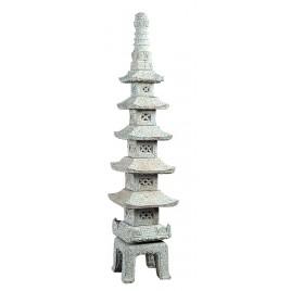 redsun lanterne japonaise 5 Storey Pagode 155cm grise