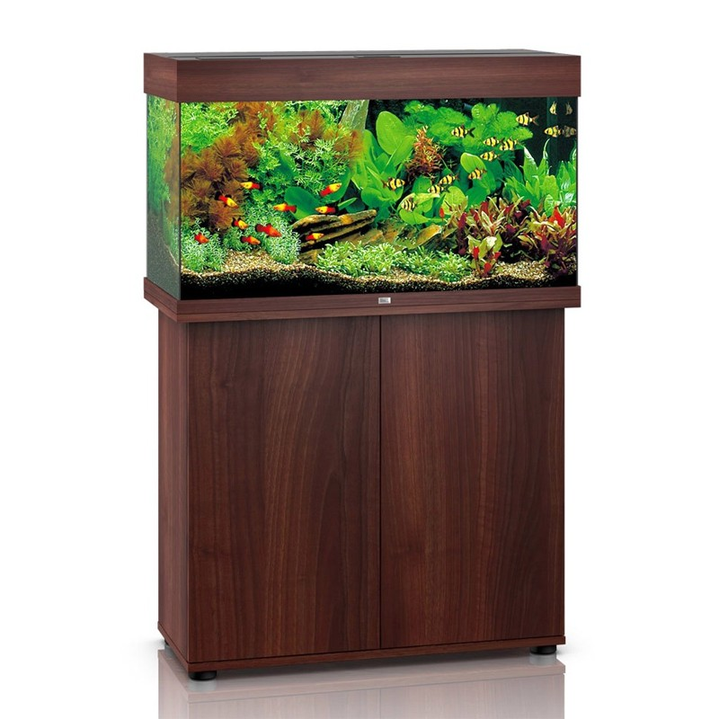 juwel aquarium rio 125 line led bois brun avec meuble avec portes. Black Bedroom Furniture Sets. Home Design Ideas