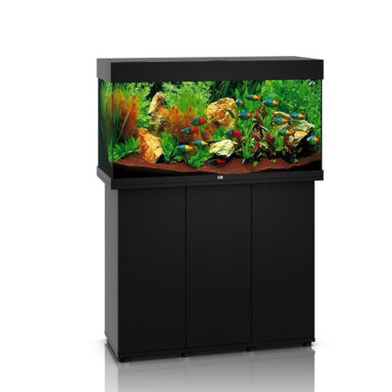 juwel aquarium rio 180 line led noir avec meuble avec. Black Bedroom Furniture Sets. Home Design Ideas