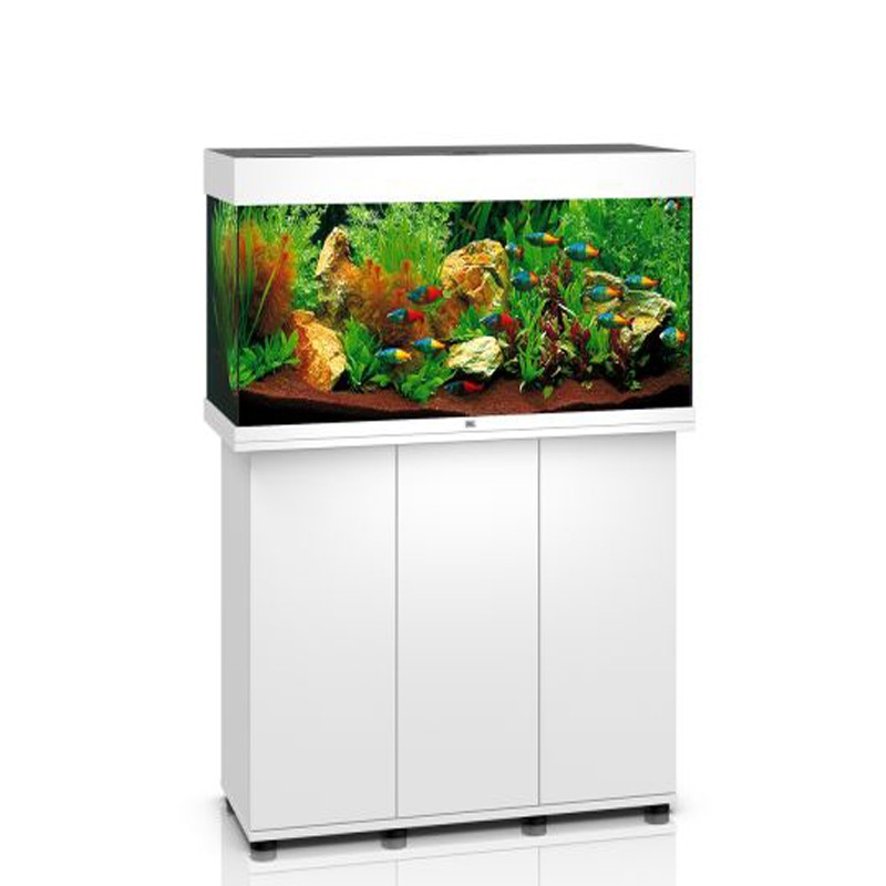 juwel aquarium rio 180 line led blanc avec meuble avec portes. Black Bedroom Furniture Sets. Home Design Ideas