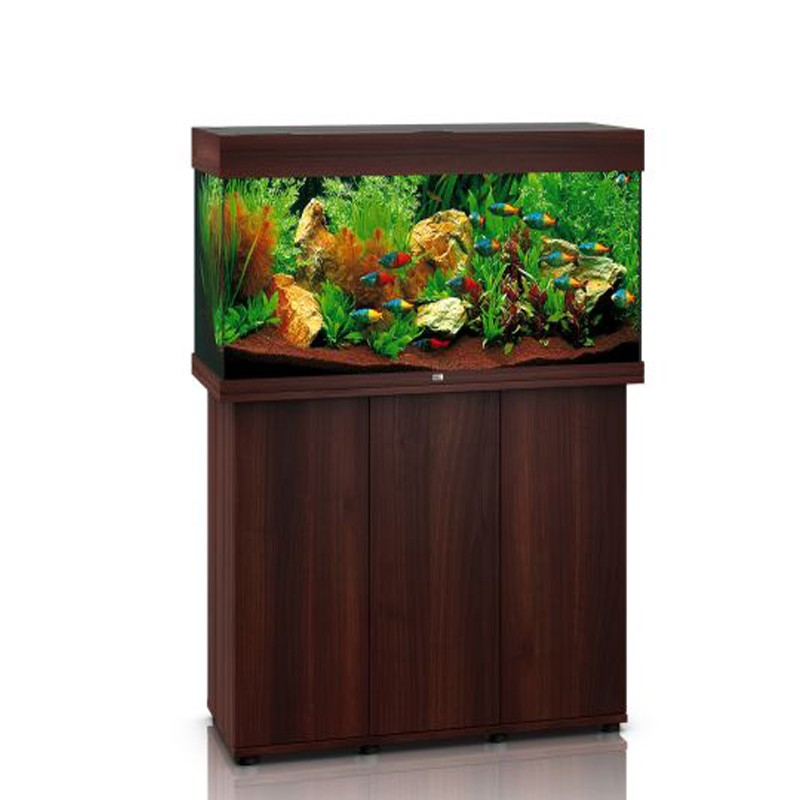 juwel aquarium rio 180 line led bois brun avec meuble avec portes. Black Bedroom Furniture Sets. Home Design Ideas
