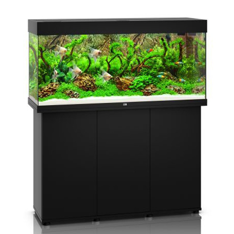 Juwel aquarium rio 240 line led noir avec meuble avec for Meuble aquarium design