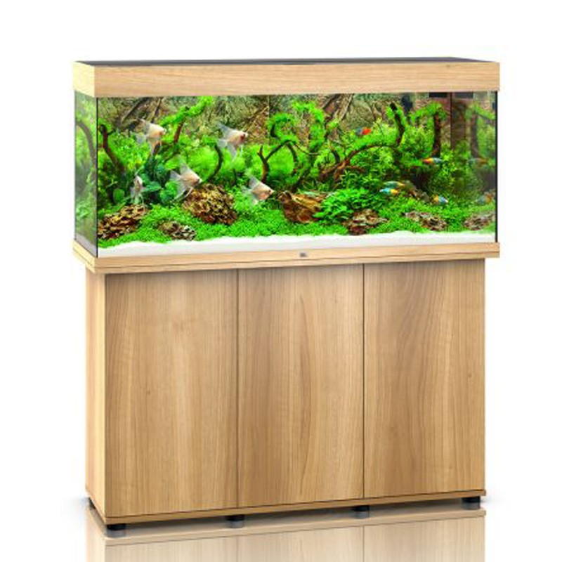 Juwel aquarium rio 240 line led light wood avec meuble for Aquarium avec meuble