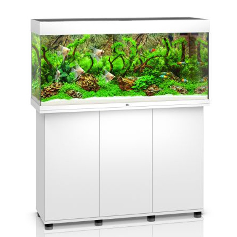 Juwel aquarium rio 240 line led blanc avec meuble for Meuble aquarium design