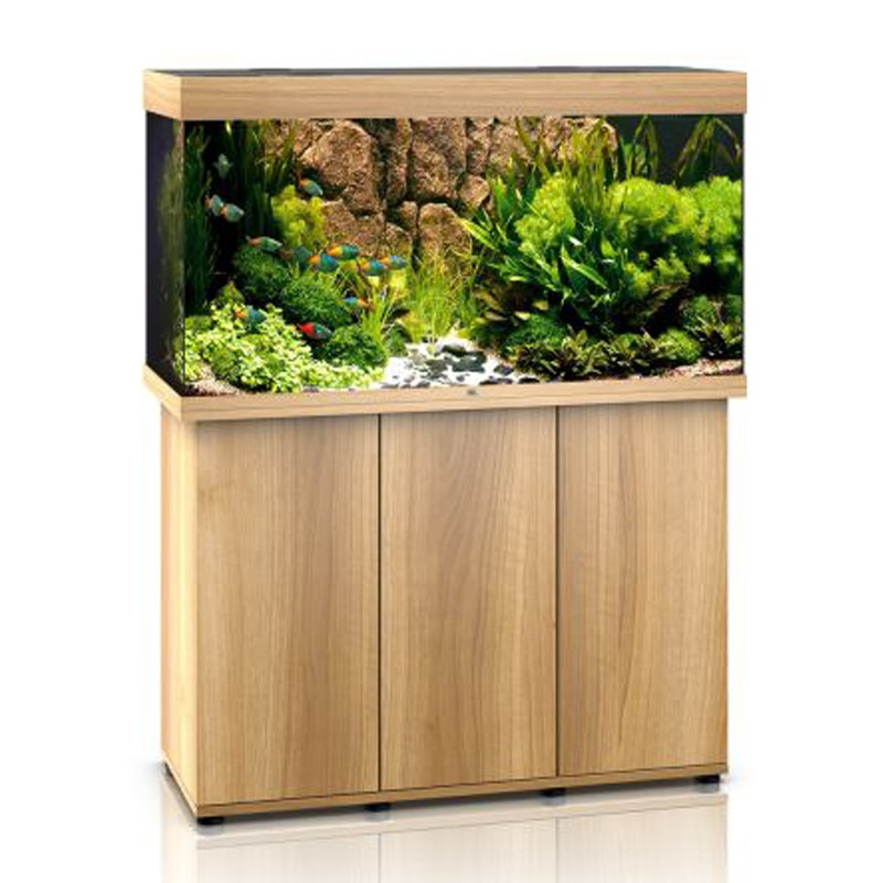 Juwel aquarium rio 350 line led light wood avec meuble for Aquarium avec meuble