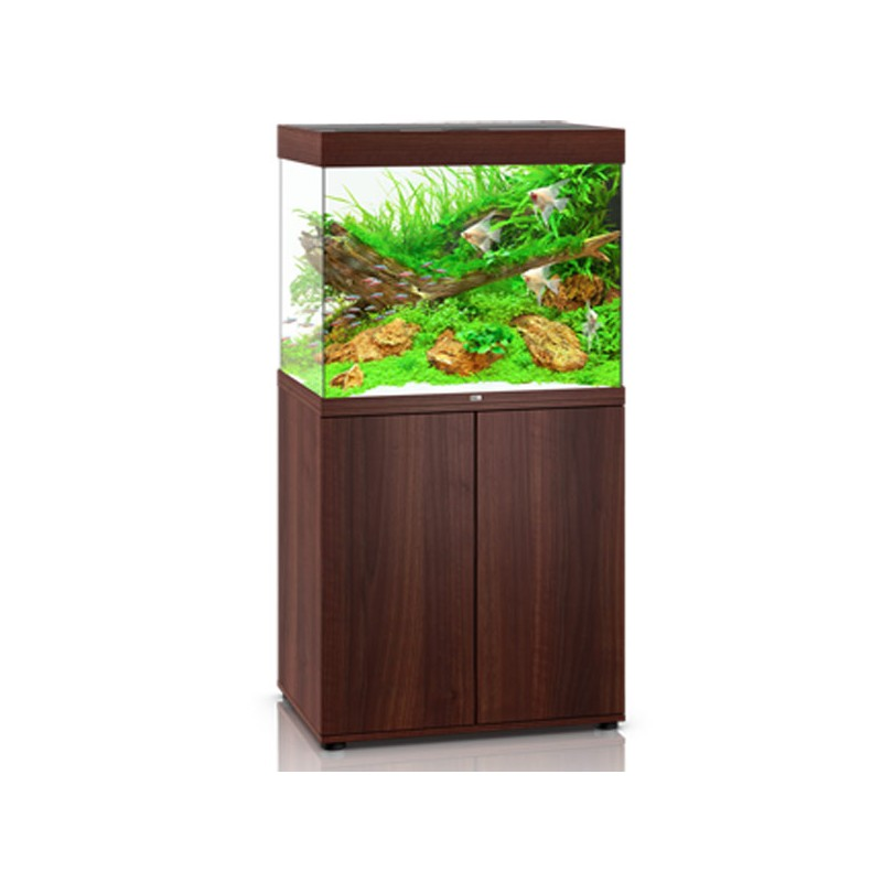Juwel aquarium lido 200 line led bois brun avec meuble for Meuble aquarium design