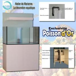 Cubic reef 100 x 60cm H 60cm 360 litres (420 litres avec le filtre)