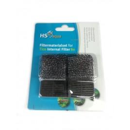 HS Aqua eponge et charbon pour filtre Tico 80 FP-08E